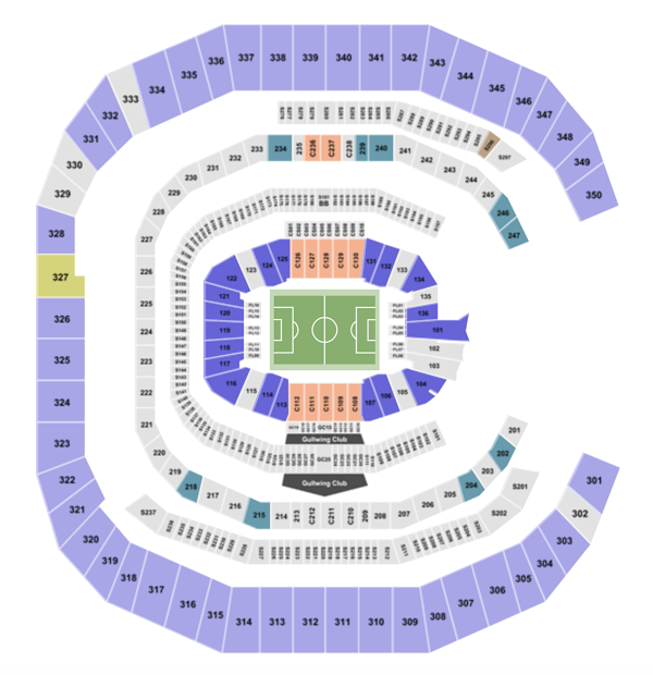 Mercedes Benz Stadium Seating Chart Section Row Seat
