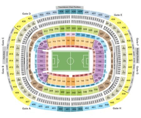 Fedexfield Seating Chart Section Row