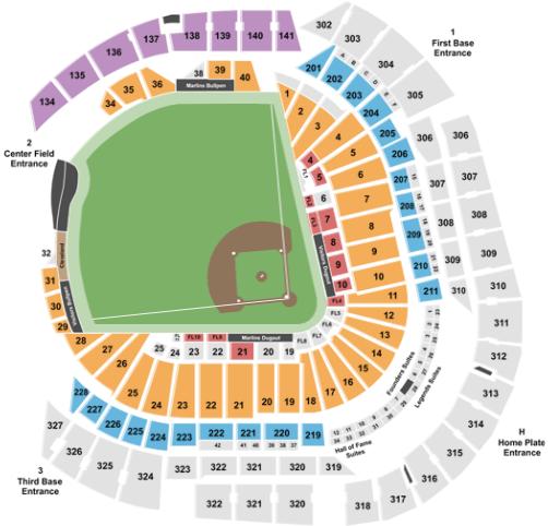 Marlins-Ballpark-seating-chart