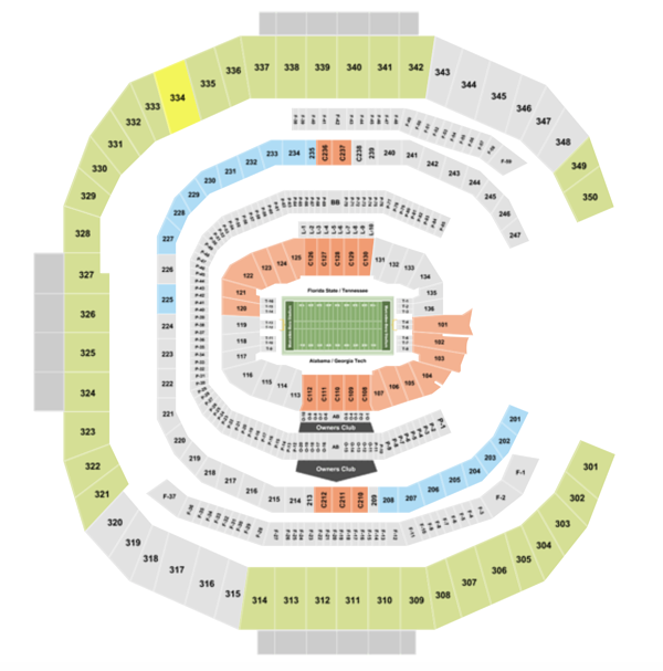 Mercedes Benz Stadium Seating Chart + Section, Row & Seat