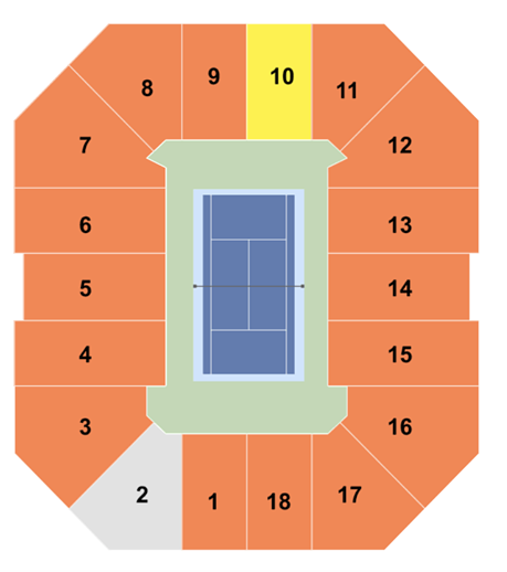 US Open Seating Chart for Arthur Ashe, Louis Armstrong ...