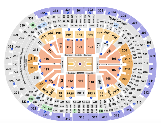 Staples Center Seating Chart Rows Seats And Club Seat Info
