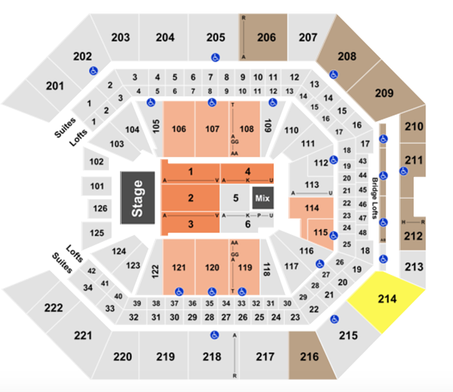 Golden 1 Center Seating Chart Rows Seats And Club Seat Info