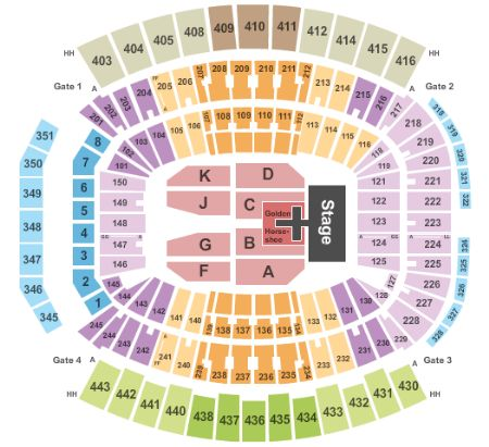 TIAA Bank Field Concerts Seating Chart