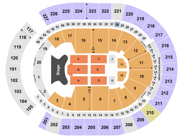 T Mobile Arena Seating Chart Section Row Seat Number Info