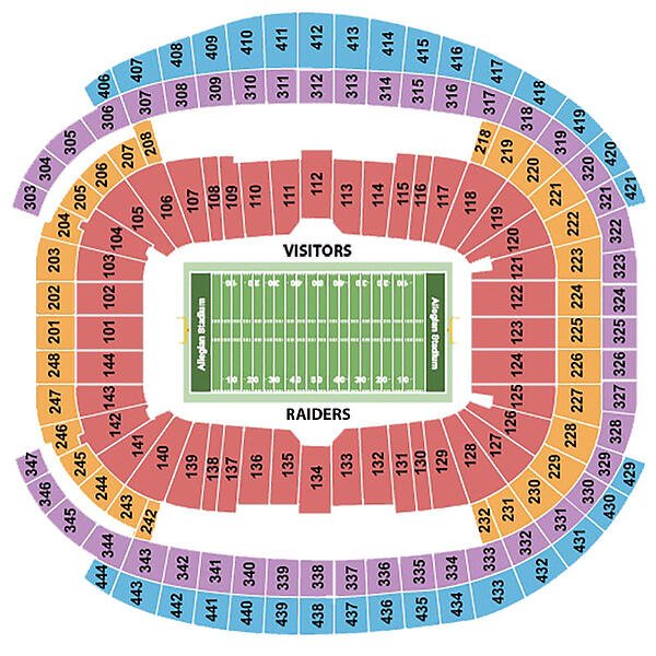 Allegiant Stadium Seating Chart Rows Seats And Club Seats