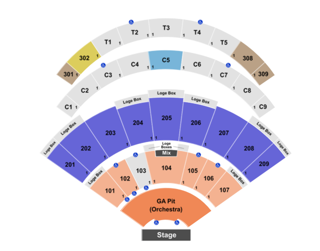 Dailys Place Amphitheater Seating Chart Where To Find Cheapest