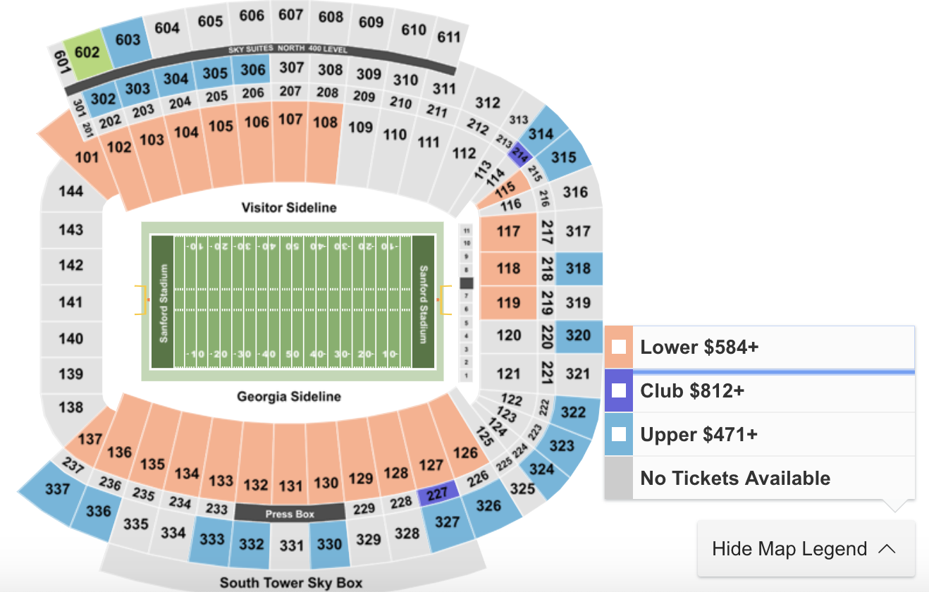 Where to Get Cheapest Tickets For Notre Dame at Georgia (UGA) Football