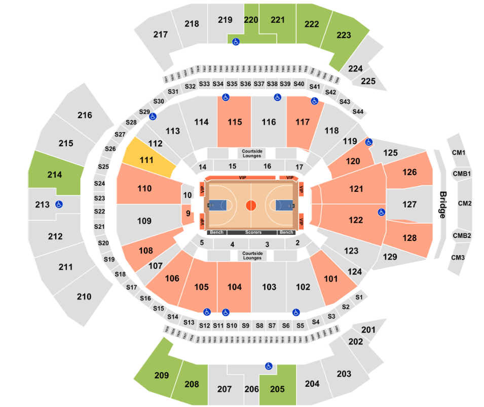 Chase Center Seating Chart + Rows, Seat Numbers and Club Seats Info