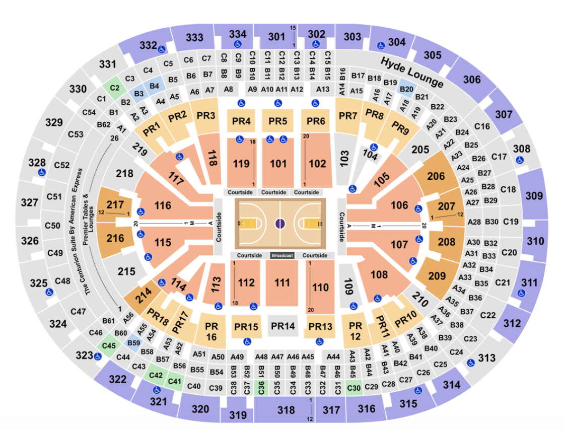 Staples Center Seating Chart + Rows, Seats and Club Seat Info