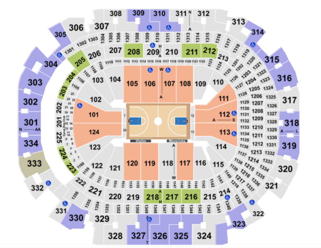 American Airlines Center Seating Chart + Rows, Seat Numbers and Club Seats