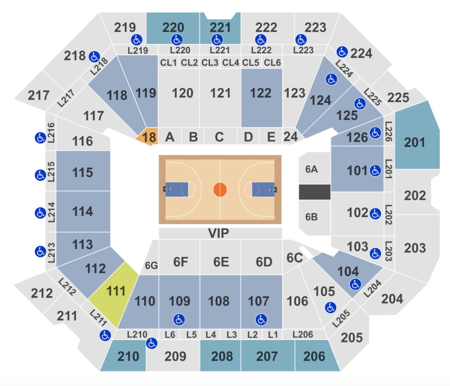 Pittsburgh Basketball Seating Chart