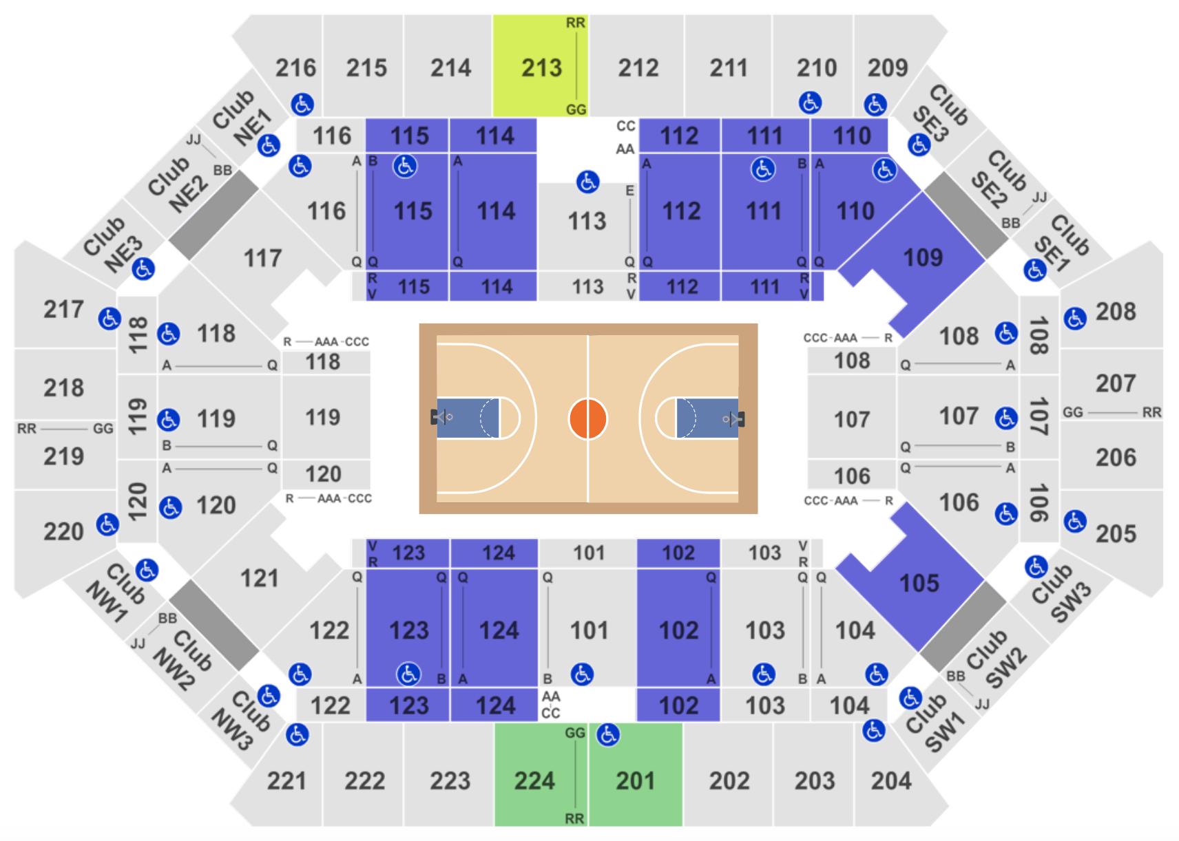 Florida State Basketball Seating Chart