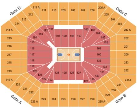 Dean E. Smith Center Seating Chart + Rows, Seats and Club Seats